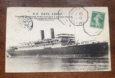 CPA Carte Postale Ancien Bateau Paquebot P. Lecat Tonkin 1923 Old Postcard Boat