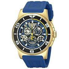 Invicta 18948 Gent's Chrono Blue Silicone Band Skeleton Dial Watch