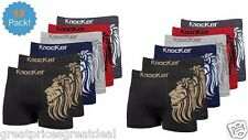 12 Mens Lion Seamless Boxer Briefs Underwear Multi-Color Bulk #MS035 Lion