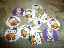 Pre Cut One Inch Hello Kitty Laker Bottle Cap Images 25 for $4.40