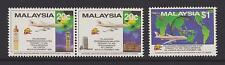 (MNH9X128) MALAYSIA 1989 MAS 747-400 Non-stop Flights to London complete set MNH