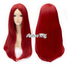 The Nightmare Before Christmas Sally Long Straight Red Hair Women Cosplay Wig