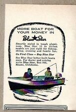 1958 Print Ad Blue Star Aluminum Boats 2 Men Fishing Miami,Oklahoma