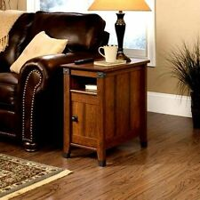 Wood Side Table End Accent Sofa Living Room Furniture Mission Style Storage New