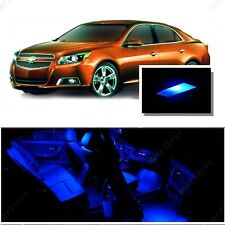 For Chevy Malibu 2013-2015 Blue LED Interior Kit + Blue License Light LED