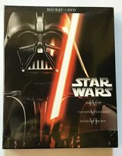 NEW STAR WARS TRILOGY EPISODES IV V VI BLU RAY DVD 6 DISC + SLIPBOX JEDI YODA