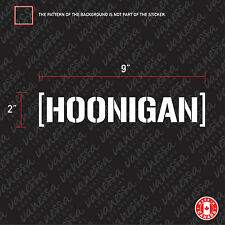 2x HOONIGAN sticker vinyl car decal white