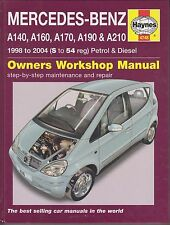 MERCEDES-BENZ A140 A160 A170 A190 A210 PETROL DIESEL 1998 - 2004 WORKSHOP MANUAL