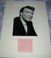 FRANK IFIELD   Origional Signed Autograph Album Page & Mount.