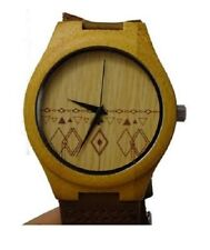 Wooden Watch | Unique Real Hand Crafted Style | Natural Wood | Gift Leather