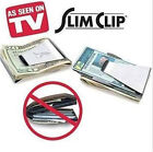 New Slim Steel Money Clip Double Sided Credit Card Holder Wallet LN