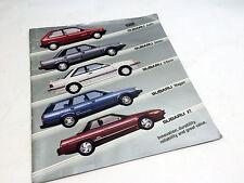 1988 Subaru Full Line Justy XT Coupe Brochure
