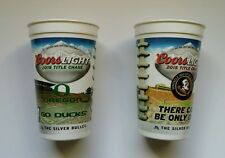 """OREGON DUCKS – FLORIDA ST. 2015 ROSE BOWL GAME """"COORS LIGHT COLLECTIBLE CUP"""