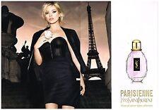 Publicité Advertising 2010 (2 pages) Parfum Yves saint laurent avec  Kate Moss