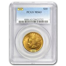 $10 Indian Gold Eagle Coin - Random Year - MS-63 PCGS - SKU #12919