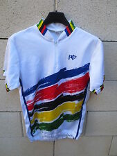 VINTAGE Maillot cycliste NORET style CHAMPION du MONDE WORLD cycling shirt 2 S