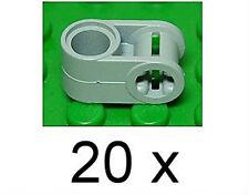 LEGO technique - 20 connexion 90 degrés trou/achsloch gris clair/6536 article neuf