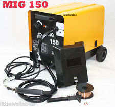 MIG 150 Flux Wire WELDING MACHINE 110V 150AMP NO GAS WELDER Auto Feeding Torch