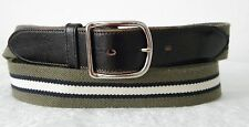 """VG+ AMAZING GREEN & BLUE & WHITE STRETCH CASUAL JEANS BELT  38"""""""