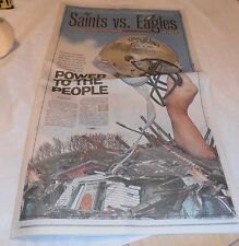 VINTAGE 2007 NEW ORLEANS SAINTS PHILADELPHIA EAGLES POWER TO PEOPLE NEWSPAPER