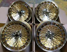 "15"" ST7 GOLD MACHINED ALLOY WHEELS 4X100 VW JETTA LUPO HONDA CIVIC INSIGHT CRX"
