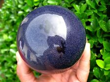 1410g Pretty Blue Aventurine quartz crystal sphere ball healing