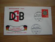 Ersttagsbrief / FDC, BRD 26.09.1968  Gewerkschaften in Deutschland   (570)