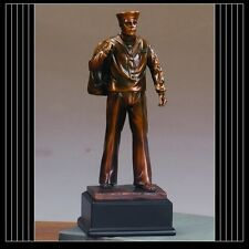 Military Armed Forces NAVY Beautiful Bronze Statue / Sculpture Brand New