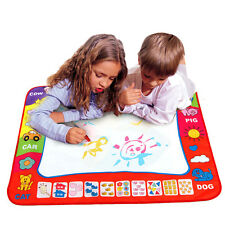 Kids Aqua Doodle Drawing Mat Magic Educational Toy 1 Mat+ 2 Water Drawing Pen