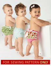 SEWING PATTERN! MAKE BABY GIRL~BOY DIAPER COVERS! SIZE 13~24 POUNDS! EASY TO DO!