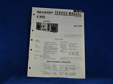 Sharp GF-7300 Radio Cassette Player Service Manual