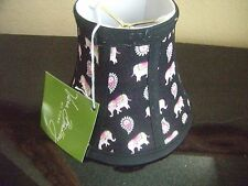 "Vera Bradley Retired ""Pink Elephant"" Mini/Chandelier Lamp Shade - 3X6X5  - NEW!"