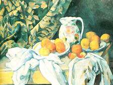 Still Life With Curtain-Cezanne - - GICLEE ART PRINT 12 x 16 Many Sizes