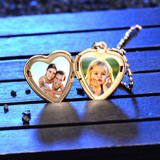 Childrens Kids Girls Locket Charms Heart Frame Pendant Yellow Gold Filled