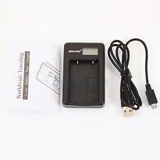 EN-EL5 Battery Charger W/ LCD Show Screen for Nikon CoolPix 5200 P100 Black