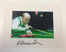 An 8 x 6 inch mount with photo personally signed by Snooker Player Gary Wilson.