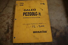 KOMATSU GALEO PC200LC-7L Excavator Trackhoe Parts Manual book catalog list spare