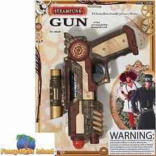 VICTORIAN INDUSTRY MILITARY STEAMPUNK GUN Fancy Dress Costume Accessory