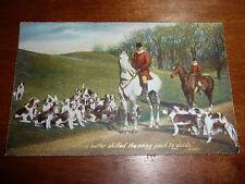 Lot24f FOX HUNTING 'None better Skilled..' TUCKS 'Calendar' Series 1128 Postcard