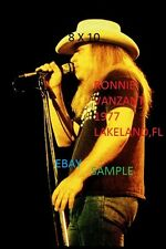 Ronnie Van Zant 1977 Lynyrd Skynyrd 8 X 10 Color Concert Photo 1 Lakeland,FL