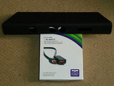 MICROSOFT XBOX 360 KINECT SENSOR EXTENSION CABLE + SILICON COVER Black BRAND NEW