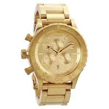 AUTHENTIC Nixon 42-20 Chrono All Gold Watch A037 502  A037502