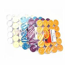 SET 20 CANDELE PROFUMATE TEALIGHT VARIE FRAGRANZE COLORATE AMBIENTI CASA