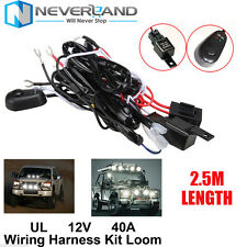 1X Wiring Kit LED Spot Work Driving light bar Loom Harness 40A Switch Relay