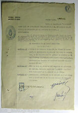 Juan Peron Pres. of Argentina hand SIGNED 1945 military document WWII #3 JSA LOA