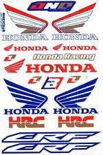 1 SHEET NEW HONDA HRC CAR MOTOCROSS ATV ENDURO BIKE RACING DECAL STICKER SK18