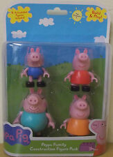 Peppa Pig ~ Peppa Family Construction Figure Pack ~ Inc 4 Articulated Figures