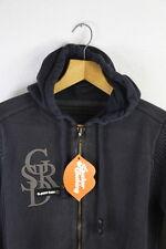 VINTAGE Da Uomo G Star Cardigan Piccolo Urban Casual Zip con cappuccio maglione scolorito p34