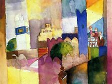 AUGUST MACKE KAIROUAN OLD MASTER ART PAINTING PRINT POSTER 281OMA