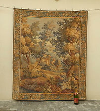 Large Vintage French Beautiful Verdure Scene Tapestry 169x142cm (A786)